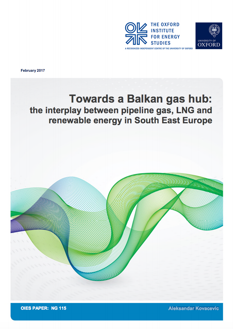 Towards a Balkan gas hub: the interplay between pipeline gas, LNG and renewable energy in South East Europe