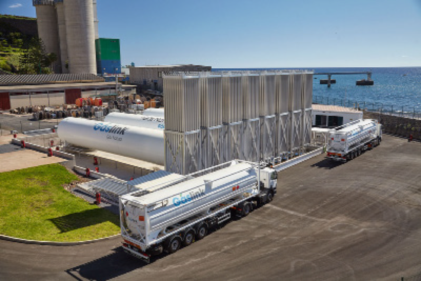 Virtual pipeline supply chain between Sines LNG Terminal and Funchal (Madeira) - Source: Grupo Sousa