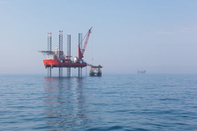 UK offshore oil and gas rig