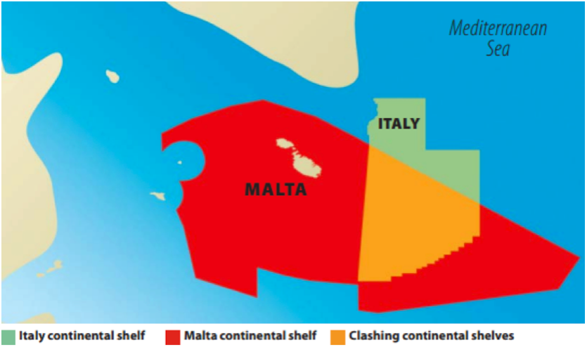 Italy and malta informally agree to suspend drilling in the 2 overlapping area south east off sicily source timesofmalta october 4 2015 the map does not show the italian western zones reported in fig gumiabroncs Images